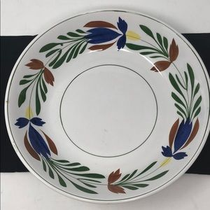 """Hand painted ironstone pasta bowl 11.25"""" D"""